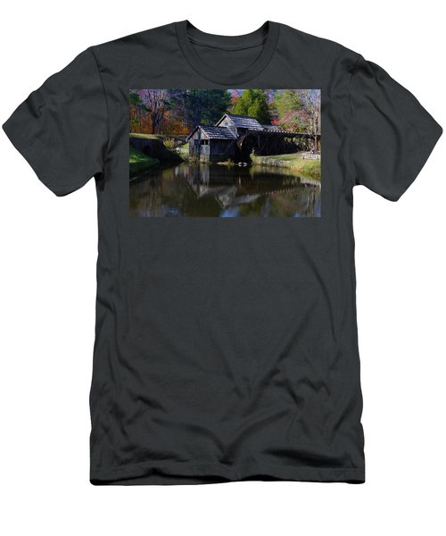Men's T-Shirt (Slim Fit) featuring the photograph Mabrys Mill On The Blue Ridge by B Wayne Mullins