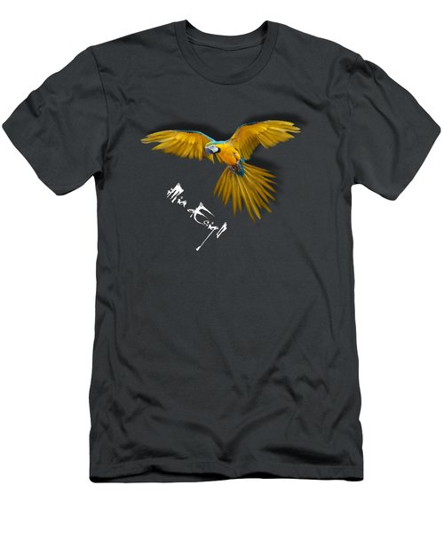 Macaws In Paint Men's T-Shirt (Athletic Fit)