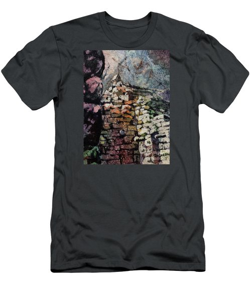 Machu Picchu Ruins- Peru Men's T-Shirt (Slim Fit) by Ryan Fox