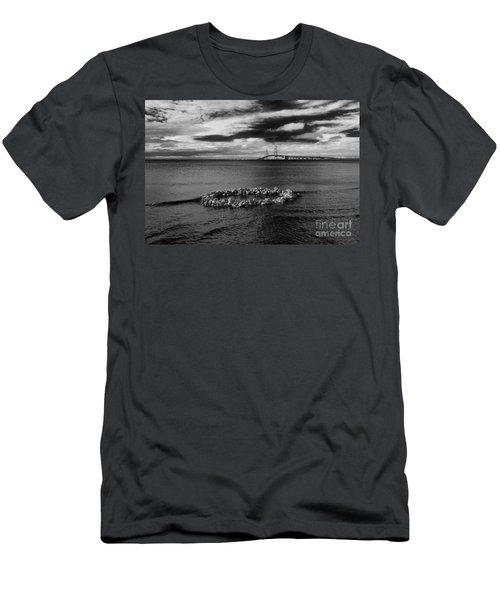 Mackinac Bridge - Infrared 03 Men's T-Shirt (Athletic Fit)