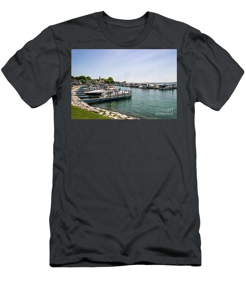 Mackinac Island Marina Men's T-Shirt (Athletic Fit)