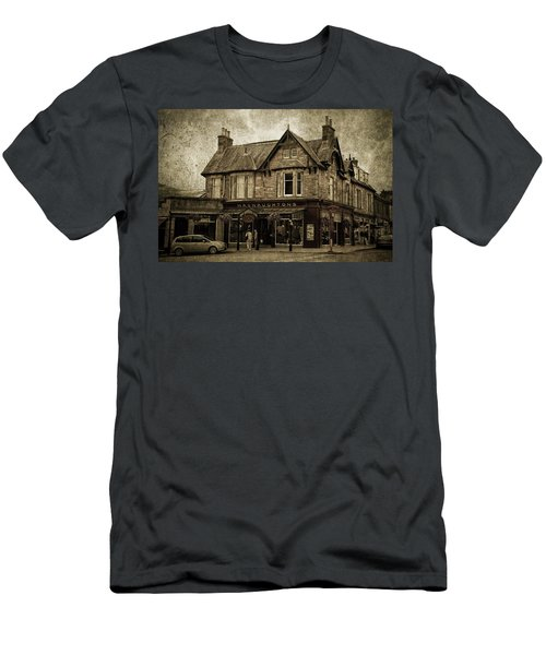 Macnaughtons Of Pitlochry. Perthshire. Sepia Men's T-Shirt (Athletic Fit)