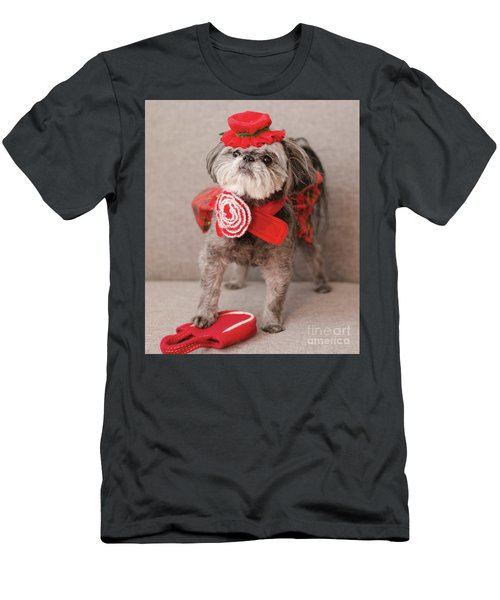Men's T-Shirt (Athletic Fit) featuring the photograph Madam Scarlett In All Red by Irina ArchAngelSkaya