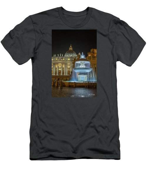 Maderno's Fountain Men's T-Shirt (Slim Fit) by Ed Cilley