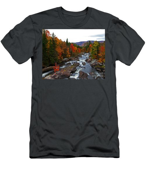 Magalloway River In Fall Men's T-Shirt (Athletic Fit)