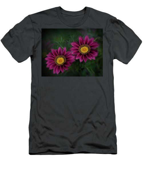 Men's T-Shirt (Slim Fit) featuring the photograph Magenta African Daisies by David and Carol Kelly
