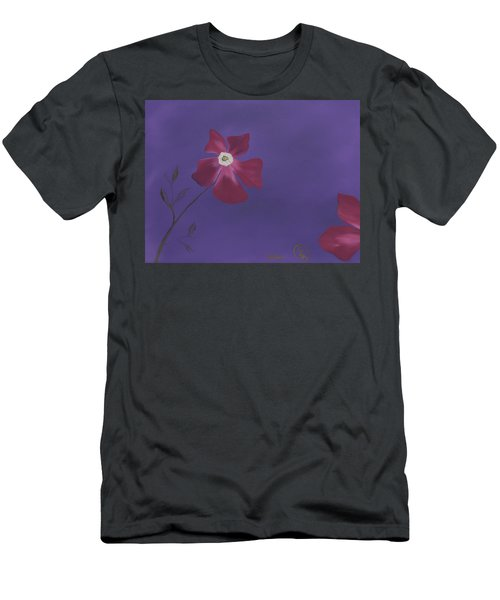 Magenta Flower On Plum Background Men's T-Shirt (Athletic Fit)