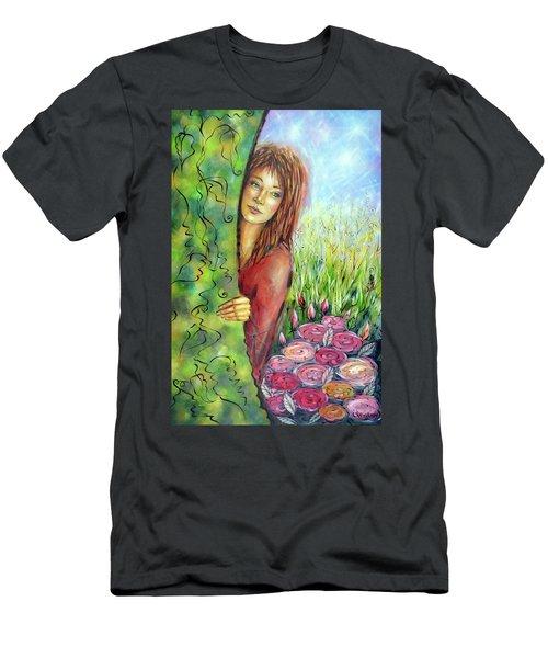 Magic Garden 021108 Men's T-Shirt (Slim Fit) by Selena Boron