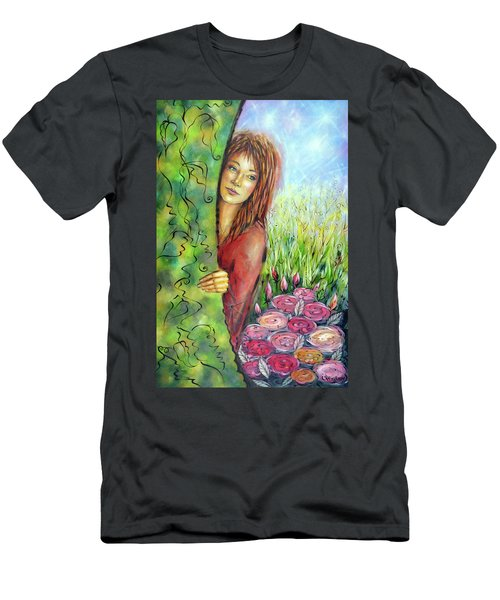 Magic Garden 021108 Men's T-Shirt (Athletic Fit)