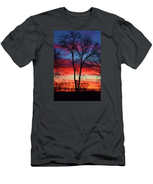 Men's T-Shirt (Slim Fit) featuring the photograph Magical Colors In The Sky by Dacia Doroff