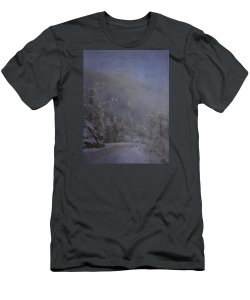Men's T-Shirt (Slim Fit) featuring the photograph Magical Winter Day by Ellen Heaverlo