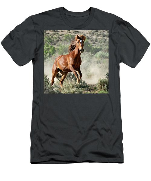 Magnificent Mustang Wildness Men's T-Shirt (Athletic Fit)