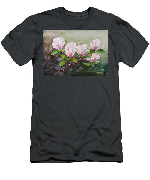 Magnolia Blossom - Painting Men's T-Shirt (Athletic Fit)