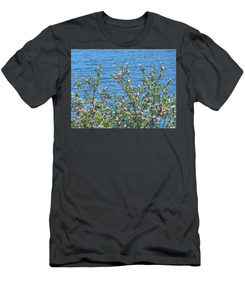 Magnolia Flowering Tree Blue Water Men's T-Shirt (Athletic Fit)