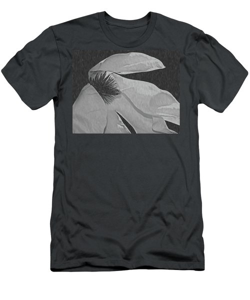 Magnolia In Black And White Men's T-Shirt (Athletic Fit)