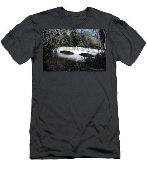 Magnolia Plantation Bridge Men's T-Shirt (Slim Fit) by Gordon Mooneyhan