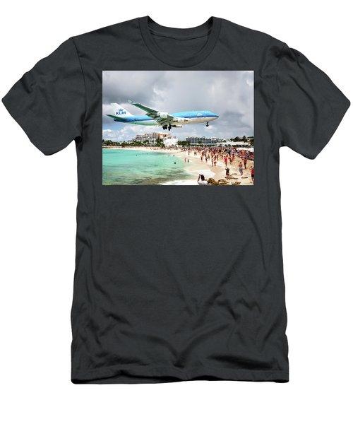 Maho Beach Caribbean Island Of St Maarten Men's T-Shirt (Athletic Fit)