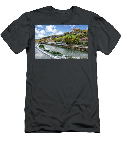Men's T-Shirt (Athletic Fit) featuring the photograph Main River Panorama by Anthony Dezenzio
