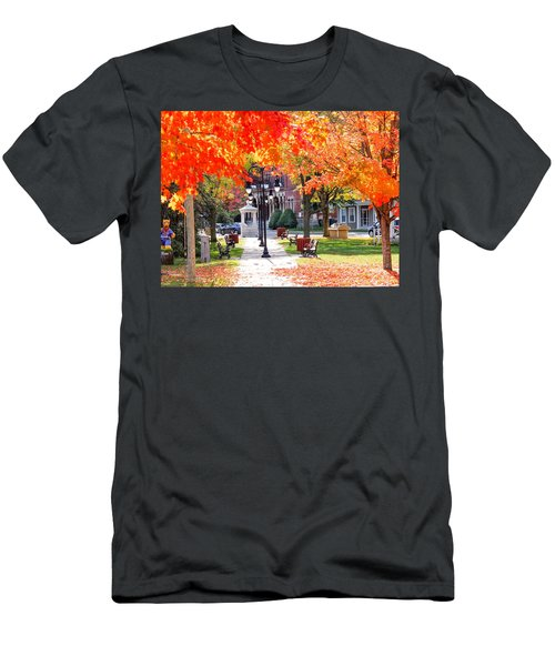 Main Street In The Fall Men's T-Shirt (Athletic Fit)
