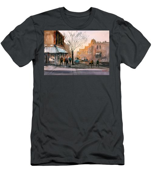 Main Street - Steven's Point Men's T-Shirt (Slim Fit) by Ryan Radke