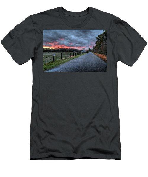 Main Sunset Men's T-Shirt (Slim Fit) by John Loreaux