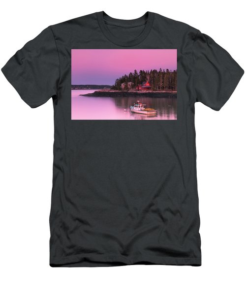 Men's T-Shirt (Athletic Fit) featuring the photograph Maine Five Islands Coastal Sunset by Ranjay Mitra