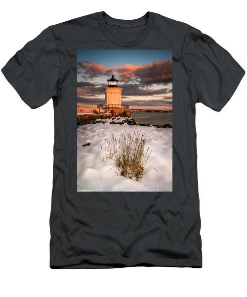 Maine Portland Bug Light Lighthouse Sunset  Men's T-Shirt (Athletic Fit)