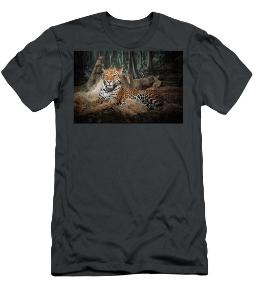 Majestic Leopard Men's T-Shirt (Athletic Fit)