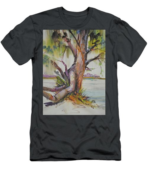 Majestic Live Oak  Men's T-Shirt (Slim Fit) by P Anthony Visco