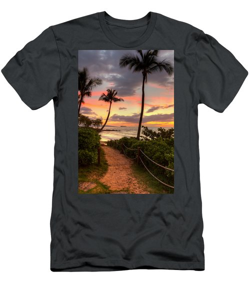 Makena Sunset Path Men's T-Shirt (Athletic Fit)