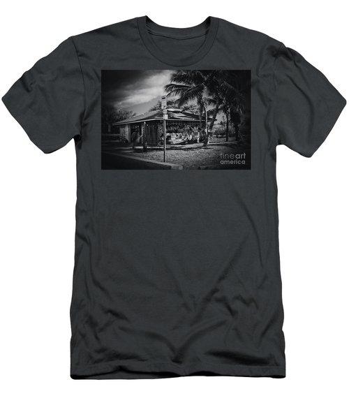 Men's T-Shirt (Slim Fit) featuring the photograph Mala Wharf Showers Lahaina Maui Hawaii by Sharon Mau