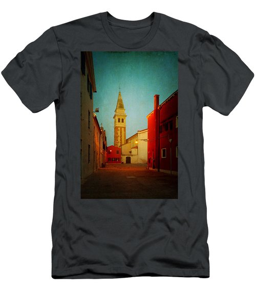 Men's T-Shirt (Slim Fit) featuring the photograph Malamocco Dusk No1 by Anne Kotan