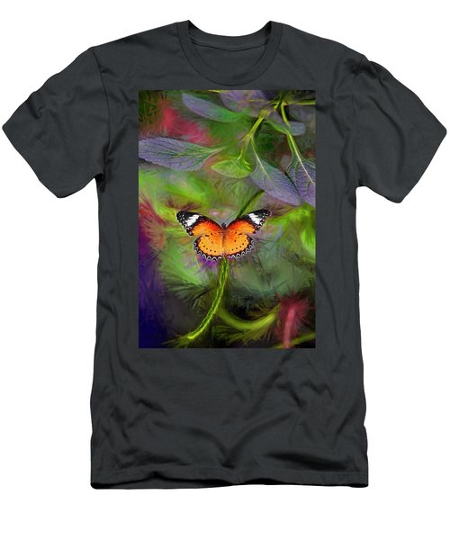 Malay Lacewing  What A Great Place Men's T-Shirt (Slim Fit) by James Steele
