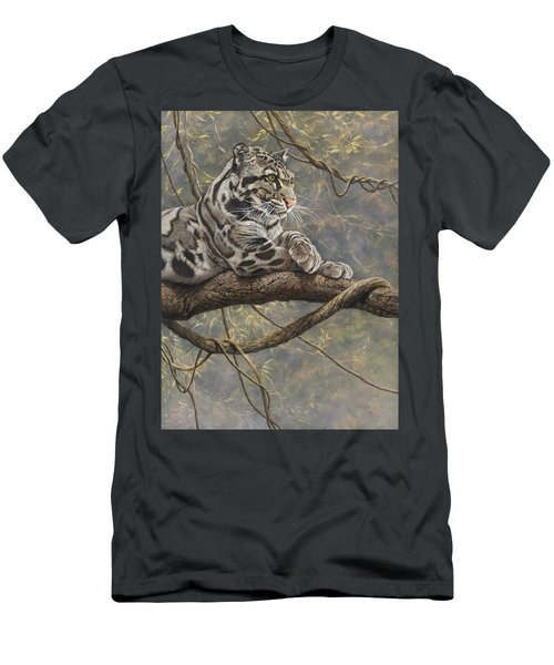 Male Clouded Leopard Men's T-Shirt (Athletic Fit)