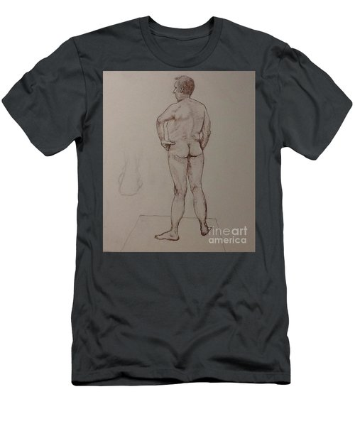 Male Life Drawing Men's T-Shirt (Athletic Fit)