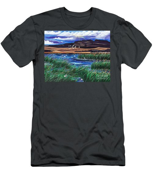 Malhuer Bird Refuge Men's T-Shirt (Athletic Fit)