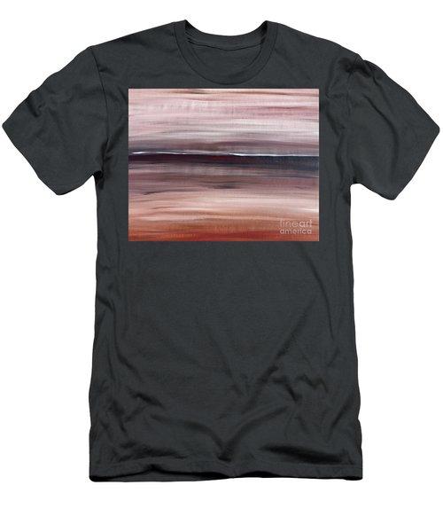 Malibu #33 Seascape Landscape Original Fine Art Acrylic On Canvas Men's T-Shirt (Athletic Fit)