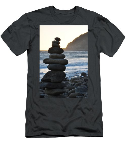Men's T-Shirt (Slim Fit) featuring the photograph Malibu Balanced Rocks by Kyle Hanson