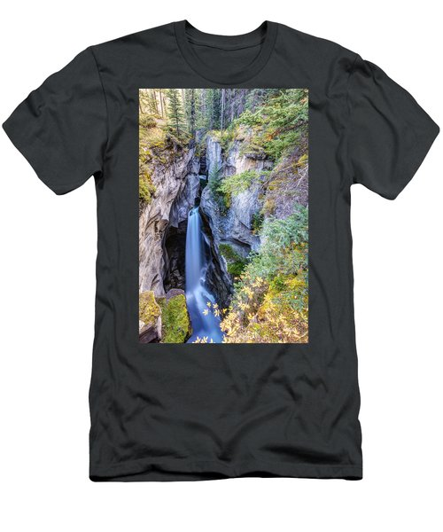 Maligne Canyon Waterfall Men's T-Shirt (Athletic Fit)