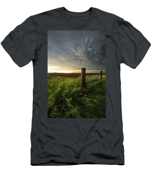Men's T-Shirt (Athletic Fit) featuring the photograph Mammatus Sunset by Aaron J Groen