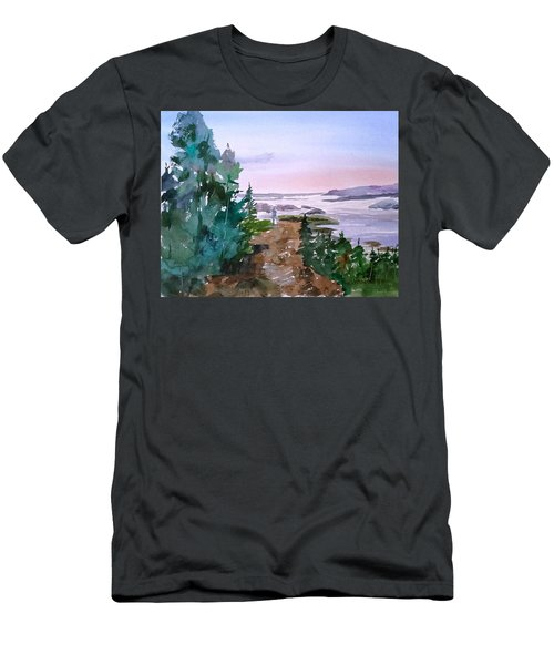 Man At Fraser Lake Bc Men's T-Shirt (Athletic Fit)