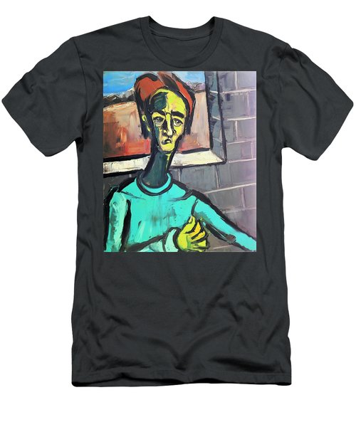 Man By A Window Men's T-Shirt (Athletic Fit)