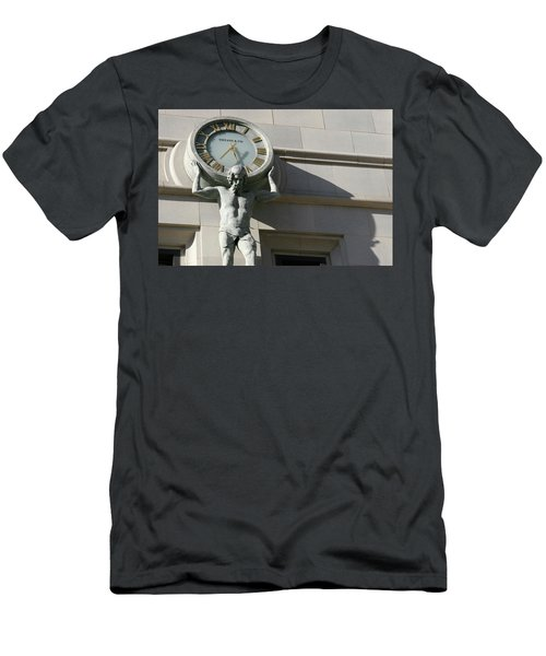 Man Holding Up Time Men's T-Shirt (Athletic Fit)