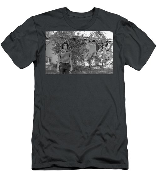 Man In Front Of Cinder-block Home, 1973 Men's T-Shirt (Athletic Fit)