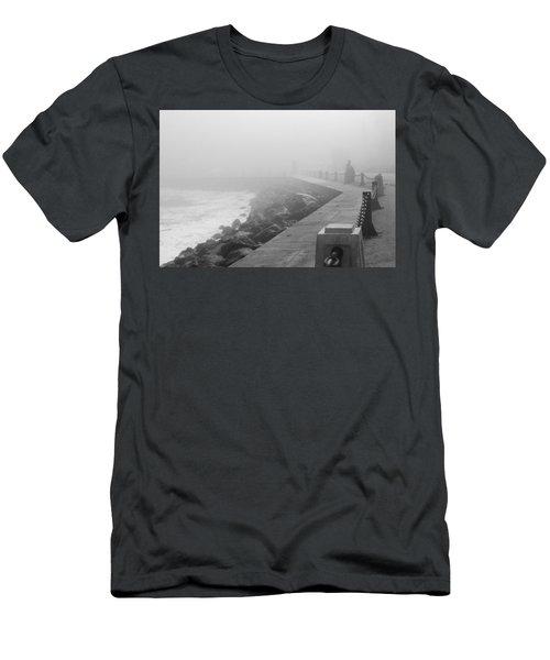 Man Waiting In Fog Men's T-Shirt (Athletic Fit)