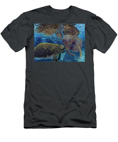 Manatee Motherhood Men's T-Shirt (Slim Fit) by David Joyner