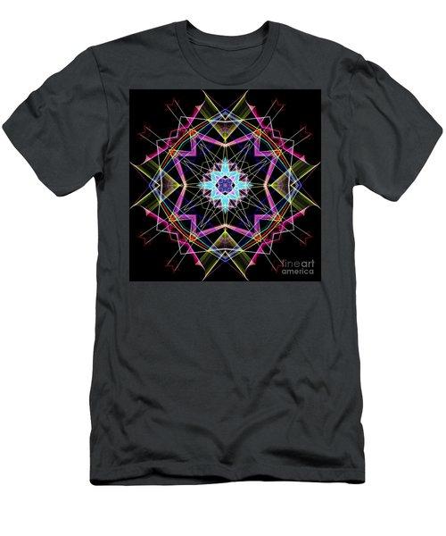 Men's T-Shirt (Athletic Fit) featuring the digital art Mandala 3304a  by Rafael Salazar