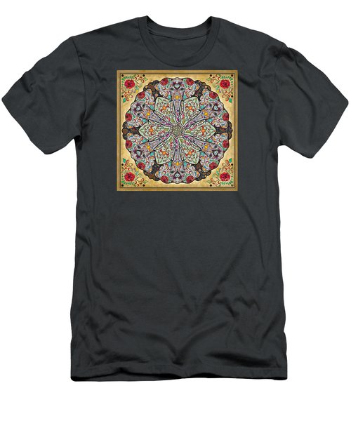Mandala Elephants Men's T-Shirt (Athletic Fit)