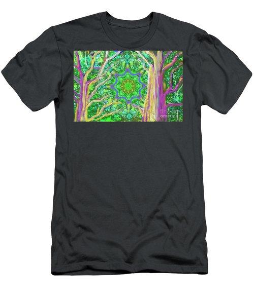 Mandala Forest Men's T-Shirt (Athletic Fit)