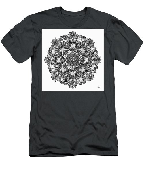Men's T-Shirt (Slim Fit) featuring the digital art Mandala To Color 2 by Mo T